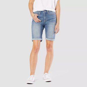 "Levi's® Women's Mid-Rise 9"" Bermuda Jean Shorts"